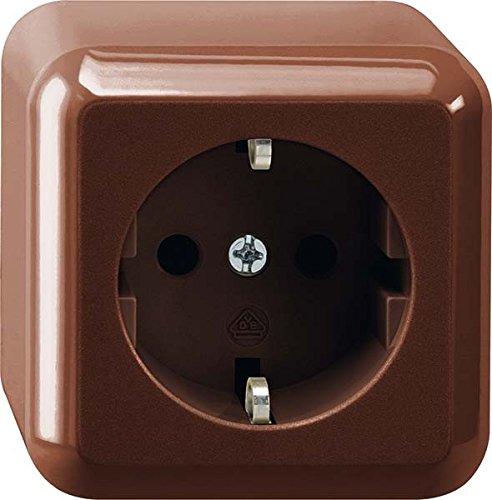 Merten MEG2301-8717Brown Socket-Outlet-Socket-outlets (16A)