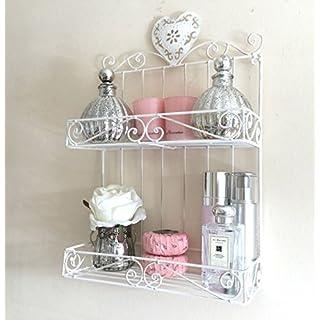 Generic ** Shelf U Shelf Unit by Chic Me Storage Display e Display R Cabinet Vintage Style Rack Bathroom Shabby Chic Metal ack B Rack Bathroom