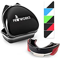 Proworks Impact Resistant Mouth Guard | Protective Gum Shield and Tooth Guard for Boxing, MMA, Rugby, Hockey and Other Contact Sports