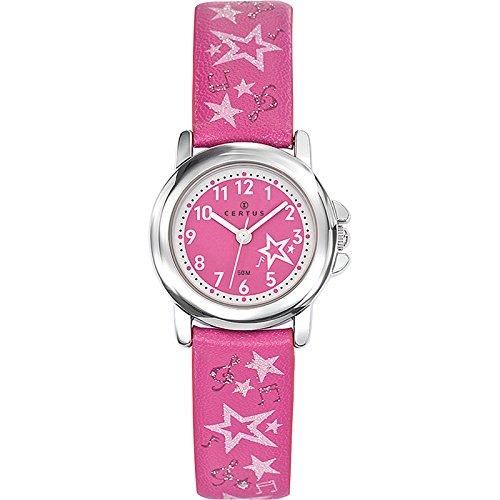 Certus  - Reloj de cuarzo unisex, correa de plástico color rosa