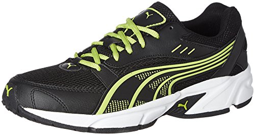 9. Puma Men's Pluto DP Black-Lime Punch Running Shoes
