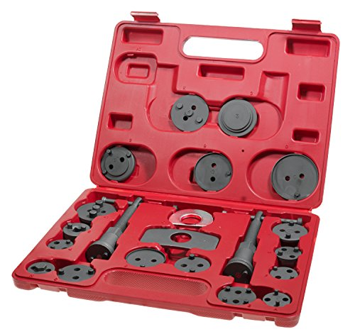 Bremskolbenrücksteller Bremsenrücksteller Rücksteller Werkzeug Bremsbacken-Set inkl. Koffer und 21 Adaptern Test