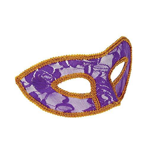SCLMJ Halloween Kostüm Frauen Masken Maskerade Prom Party Halloween Maskerade Maske, Lila