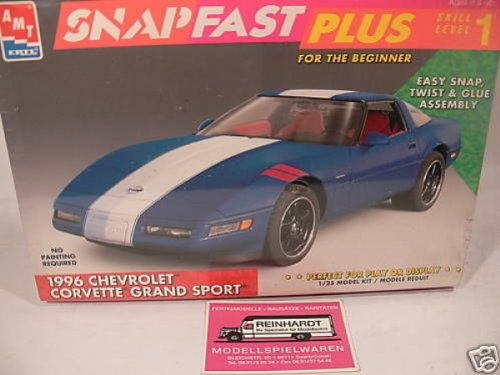 #8763 AMT Snap Fast Plus 1996 Chevrolet Corvette Grand Sport 1/25 Scale Plastic Model Kit,Needs Assembly by AMT Ertl - 1996 Corvette