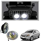 #7: Vheelocityin 55W Oval (Set Of 2) Auxillary Lamps Foglamp Halogen Light For Tata Indigo Ecs