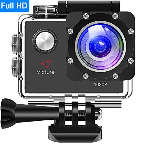 einwegunterwasserkamera Victure Actioncam Full HD 1080P 12MP 170° Weitwinkel Wasserdichte Aktionkameras Unterwasserkamera Sport Action Camera mit 1050mAh Batterie 20+Kostenlose Zubehör Kits