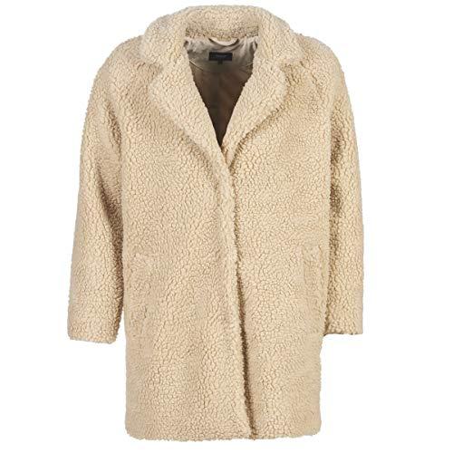 ONLY Damen Onlaurelia Sherpa Coat Cc OTW Mantel, Beige Cuban Sand, Small (Herstellergröße:S) (Fell Reverskragen-mantel)