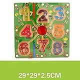 Toy*dfgh  MG Laberinto de Juguete Laberinto Laberinto de Madera Actividad Perlas Juego de Mesa Juguete Educativo Descompresión Puzzle 0430 ( Pattern : E )