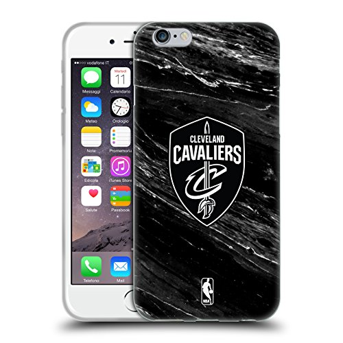 Ufficiale NBA Camouflage Digitale Cleveland Cavaliers Cover Morbida In Gel Per Apple iPhone 6 / 6s Marmo B&N