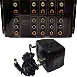 Offex Wholesale 4-way Component Video + Audio RCA Distribution Amplifier/Splitter