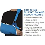 Shoulder / Arm Sling with Velour Padded (Medium 29cm -34 cm) - (Ideal for Females / Meduim Adults)