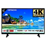 Hitachi Téléviseur de 43' (107,9cm) 4K Ultra HD/Smart TV: Netflix, Youtube, Prime/WiFi - Ethernet / 2 HDMI/VGA-PC / 1 USB
