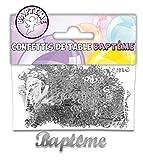 CONFETTIS DE TABLE BAPTÊME ARGENT...