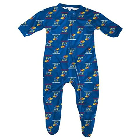Kansas Jayhawks Toddler Full Zip Raglan Coverall Sleeper