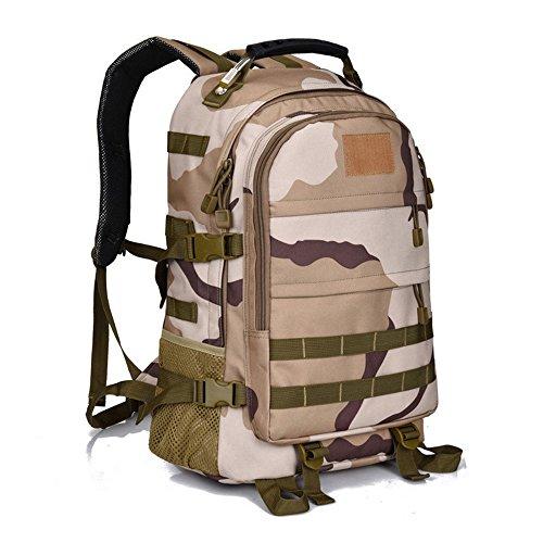 dushow groß Tactical Rucksack Sport Outdoor Military Rucksack Wandern Camping Rucksack/Rucksack Gepäck Tasche Beige