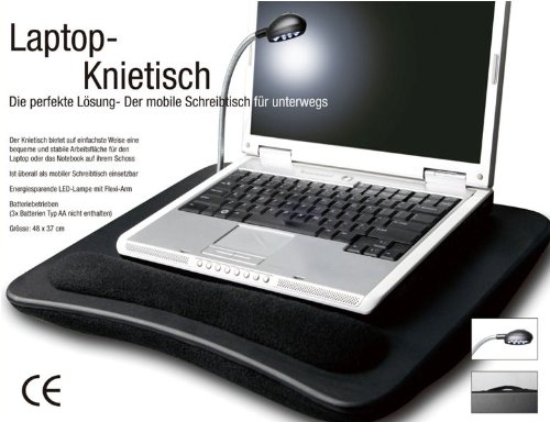Laptop Knietisch mit LED Lampe