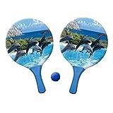 Beachball Set Delphine mit 2 Schlägern und einem Ball