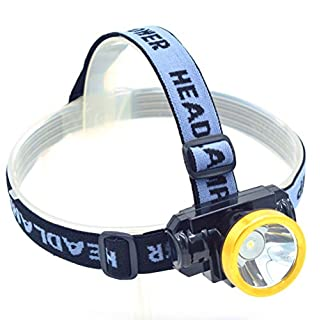 Ambertech mini bright led headlamp flashlight, rechargeable led flashlight for mining, hiking, running, hiking, camping, fishing (flashing area 50M)
