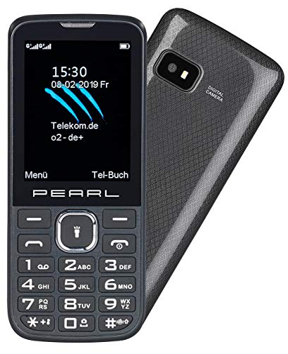 Simvalley Mobile Mobiltelefon: Dual-SIM-Handy mit 6,1-cm-Display (2,4