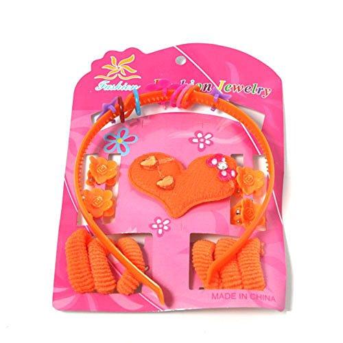 Wl Fashion - Ensembles Bijoux Enfant 2 Heart Orange
