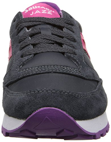 Saucony Originals Women's Jazz Original Fashion Sneaker,Charcoal/Pink, 11 M US Multicolore (Carbón / Rosa)