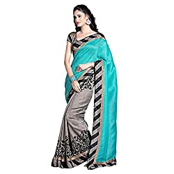Muta Fashions Women's Cotton Silk Saree (MUTA226_19_Grey_Free Size)