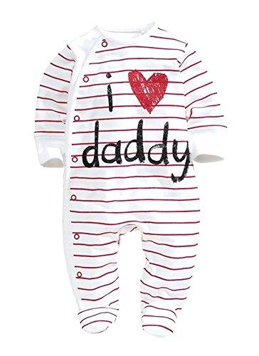 KAIKSO-IN Babyspielanzug 2015 Newborn Ich liebe Mama & Papa-Baby-Kostüm Jungen Overall Kleidung Winter-Spielanzug Körper BABY-KLEIDUNG (Kostüme Mama Papa Baby)