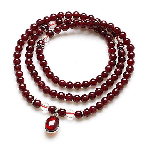 Multicouche grenat bracelet/ Bracelets de perles de cristal D