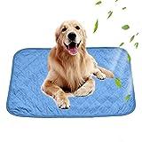 Gorgebuy Hunde Selbst Kühlmatte, Haustiere Kühl-Hundedecke Kühlkissen - Blau Hundematte Kühldecke Perfekt für Fußboden Sofa Bett oder Auto etc (L)