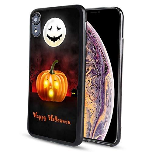 pzicase iPhone XR 6.1 Zoll Hülle, Alien UFO Design TPU Weiche Silikon Schutzhülle Durable Stoßfest Case für iPhone XR, Happy Halloween