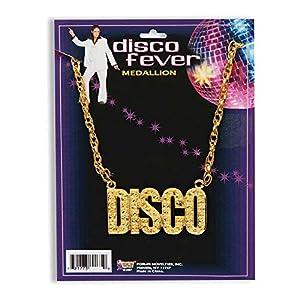 NEW DISCO NECKLACE 70S STAURDAY NIGHT FEVER FANCY DRESS (accesorio de disfraz)