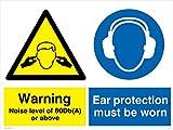 Viking Schilder cp5388-a3l-ac Achtung Geräuschpegel von 80dB (A) oder höher, Gehörschutz zu tragen, Sign, 3mm Aluminiumverbundplatte, 400mm H x 300mm W