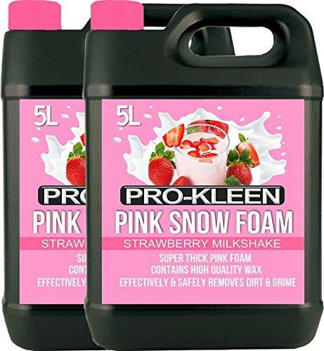 10L Kleen Erdbeer Milchshake Pink Snow Schaum mit Wachs-Super Dick & non-caustic Schaumstoff-extrem leistungsstark und einfach zu verwenden -