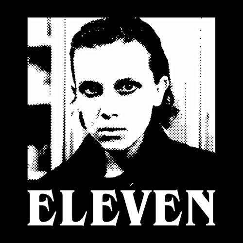 Eleven Stranger Things Halftone Women's Hooded Sweatshirt Black