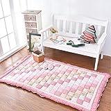 Tappeti decorativi moderni cotone rettangolo tappetini per camera da letto living camera americana nordic comodino baby crawling materasso tatami casa antiscivolo lavabile-B 150x200cm(59x79inch)
