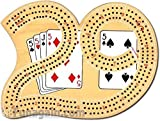 Classic 29 Cribbage Set - Solid Wood 3 T...