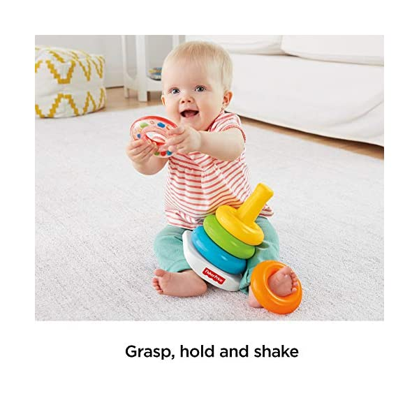 Fisher-Price FHC92 Rock-A-Stack, Baby Educational Stacking Toy Rings, Suitable for 6 Months+ 3