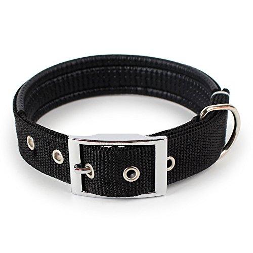 EUZeo Kat Hundehalsband Verstellbarer Halsgurt für große mittelgroße Hunde Katze Einfarbig ()