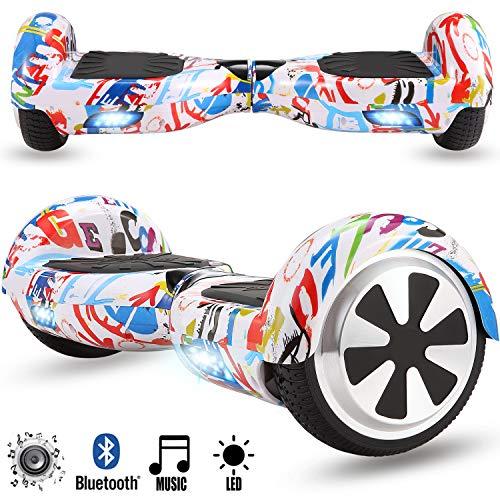 Magic Vida Skateboard Électrique Bluetooth 6.5...