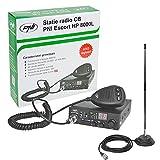 CB Funkgerät KIT PNI ESCORT HP 8000L ASQ + CB Antenne PNI Extra 40 SWR 1.0, 44 cm Höhe, 4 m RG58 Kabel und magnetische Halterung enthalten