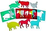 Henbea Plantillas de Aprendizaje de Animales de Granja,...