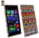 Emartbuy® Value Packfür Nokia Lumia 735 / Lumia 730 Dual Sim LCD Displayschutz + Gel Hülle Schutzhülle Case Cover Aztec + Kompatible Micro USB In Kfz-Ladekabel