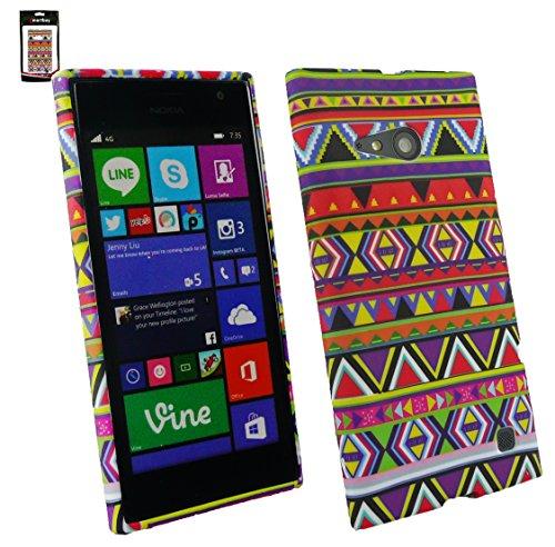 Emartbuy Nokia Lumia 735 / Lumia 730 Dual Sim Pellicola Protettiva E Case Cover Custodia in Gel Aztec