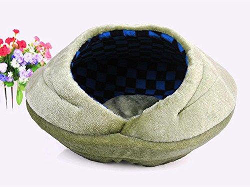 Dell'animale domestico conchiglia Tipo Cat gabbia fossa di scolo calda della tenda morbida gattino piccolo cane cucciolo House 3 colori , super soft green