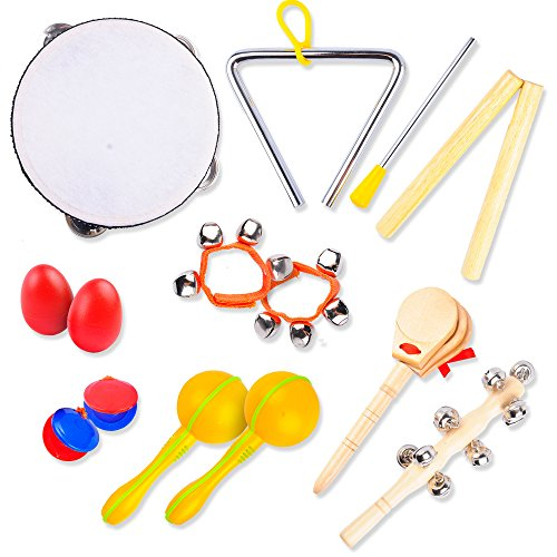 AGREATLIFE Kids Musical Instruments Set: Best Kids Instrument Set - Perfect Percussion Starter Kit and Musical Toys for Kids to Make Beautiful Music