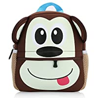 Hotrose Children Bag Kindergarten Cartoon Backpack Animal Pattern Rucksack for Toddler Boys and Girls