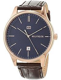 Tommy Hilfiger Reloj Analógico para Hombre de Cuarzo con Correa en Cuero 1791493