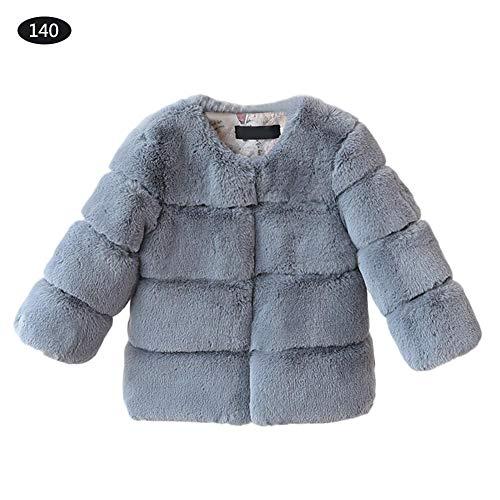 Abrigos de piel sintética para bebés y niñas, chaqueta cálida para niños,...