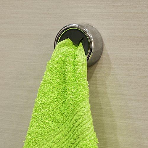 Preisvergleich Produktbild Tatkraft Bera Handtuchklemme Geschirrtuchklemme Bad und Küche Stark Selbstklebend Plastik