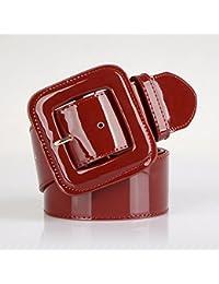 QIER-YD Robe large en ceinture en cuir verni pour femme large ceinture  large ceinture 965e59dbd3f